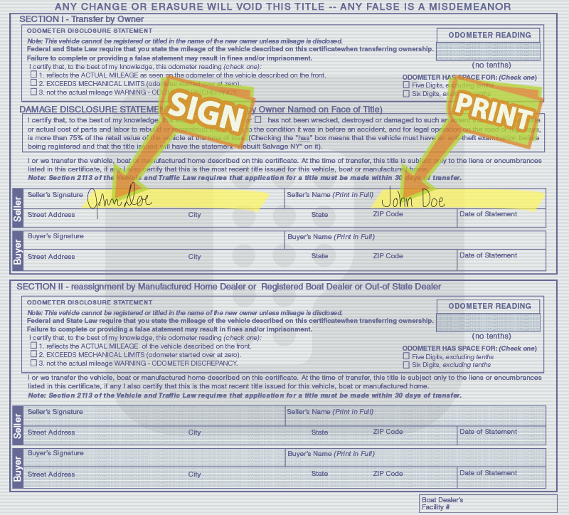 How To Get Copy Of Title For Car Ny